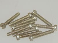 "10 x 4BA Slotted Head Screws Non Magnetic Alloy Length 7/8"" [D6]"